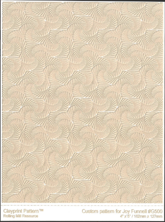 RMR Laser Texture Paper - Whirls of Joy Reversed - 102 x 127mm