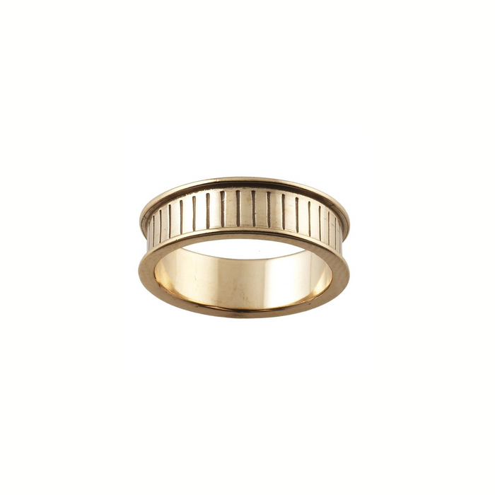 Ring Core 6mm wide - Channel - Bronze - UK Size P