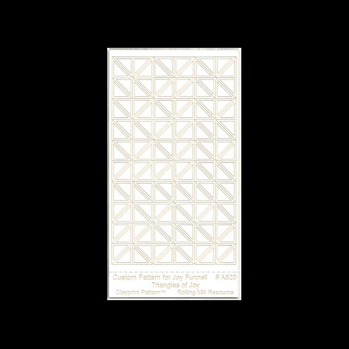 RMR Laser Texture Paper - Triangles of Joy - 50 x 89mm