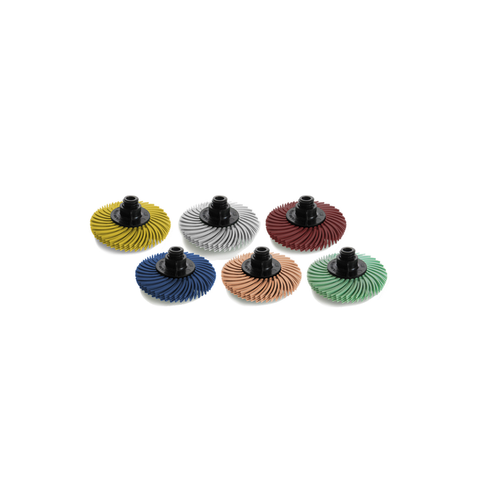 """JoolTool Essentials: Set of 6 - 3M Radial Bristle Brushes Small 2"""" - 4-ply"""