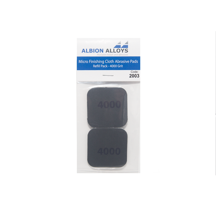 Micro Finishing Cloth Abrasive Pads - 4000 Grit