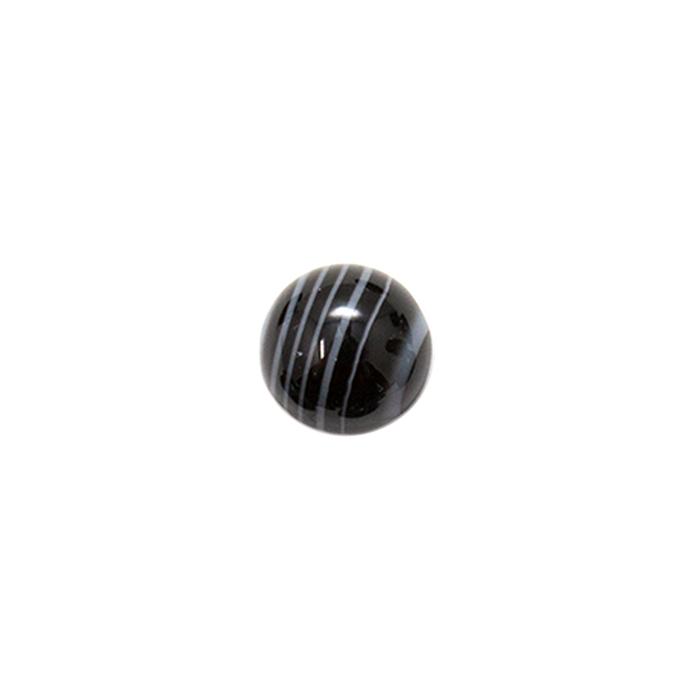 Round Cabochon - Black & White Onyx - 10mm
