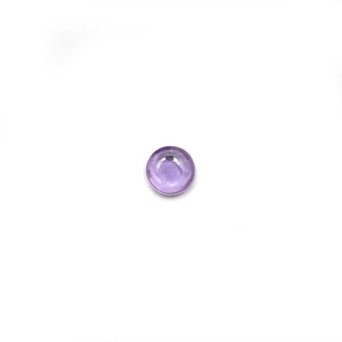 Round Cabochon - CZ Amethyst - 3mm