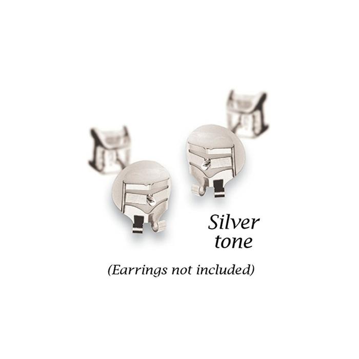 Lox Earring Backs - Silver Tone - 2 Pairs