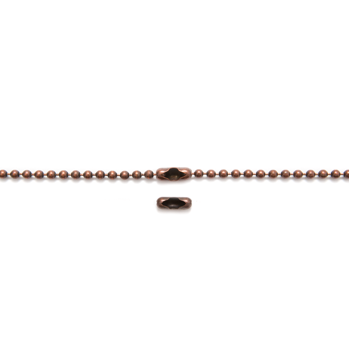 Antique Copper Ball Chain - 68cm