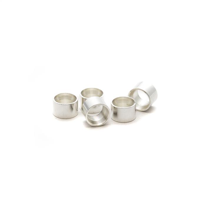 Silver Open Bezel Round 3mm - 5 pack