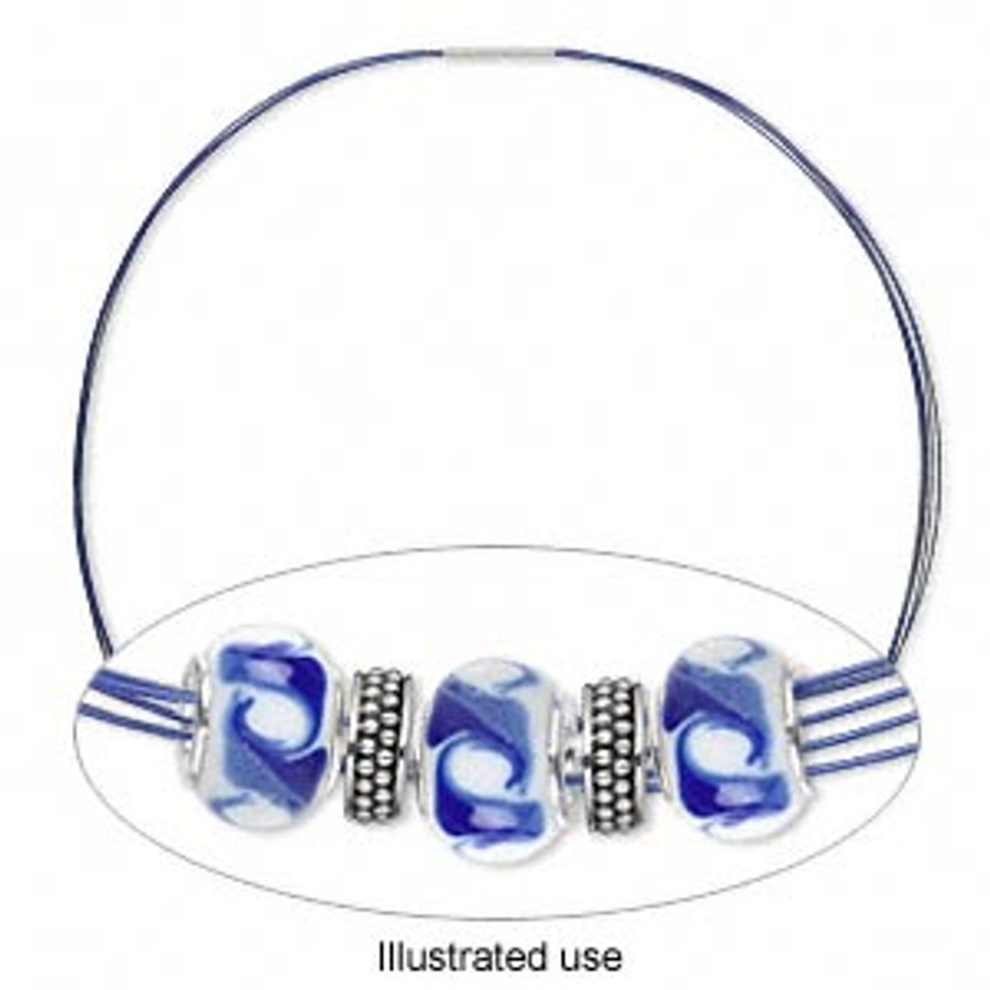 Stainless Steel Choker Necklace - Blue
