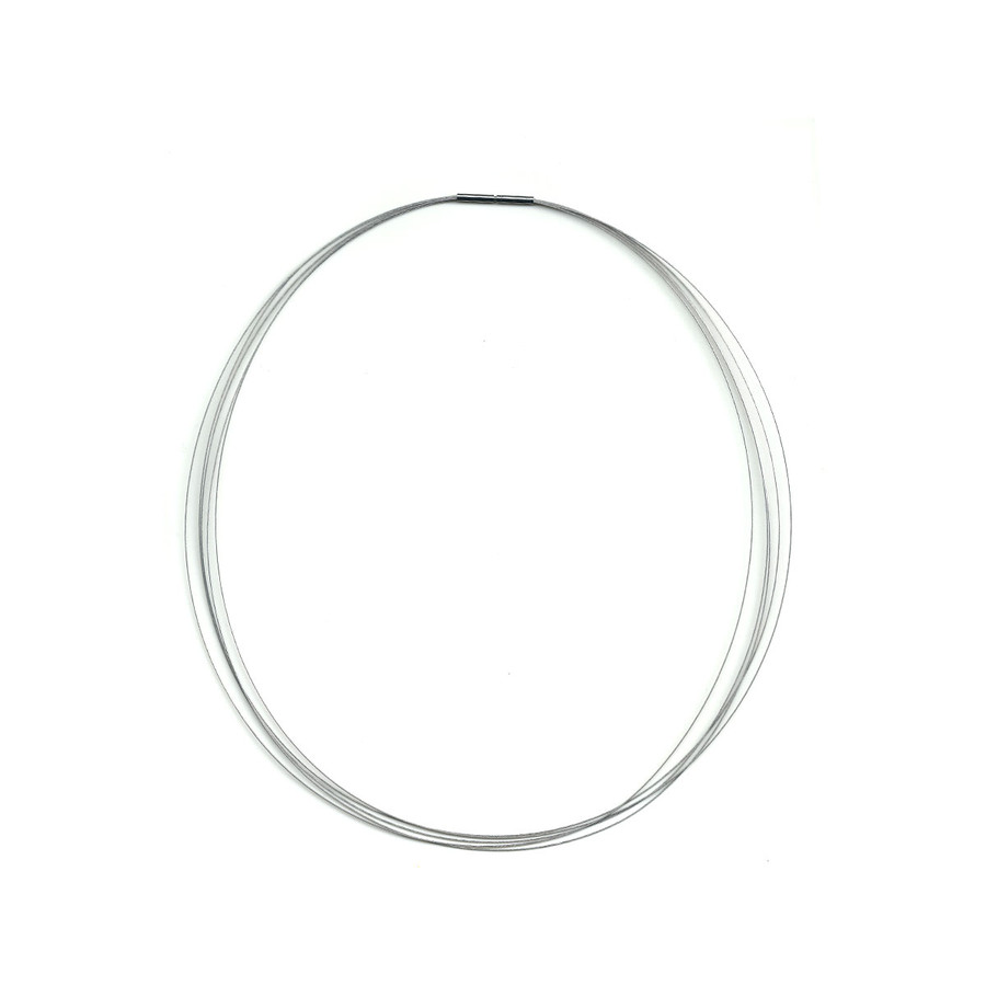 Stainless Steel Choker Necklace - Silver