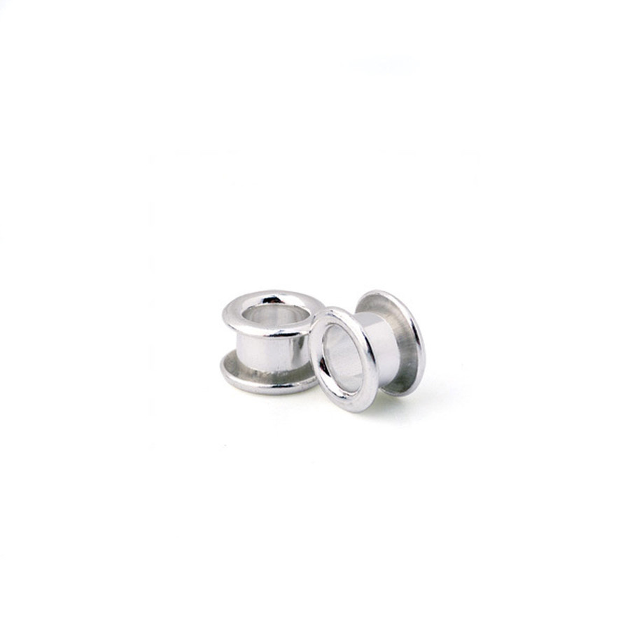 """Bead Core Fine Silver Flared No Thread - 1/8"""" (Pack of 4)"""