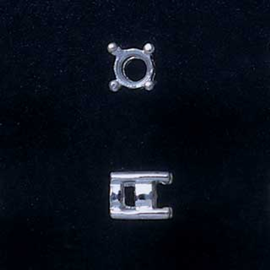 Fine Silver Prong Setting - Round - 3mm