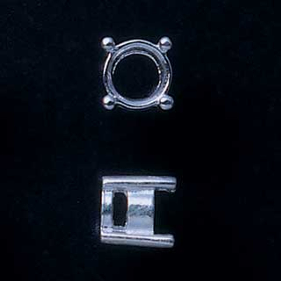 Fine Silver Prong Setting - Round - 5mm