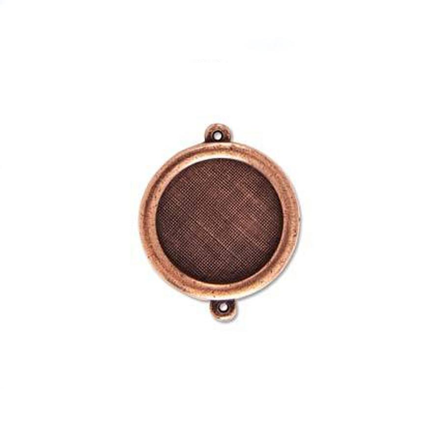 Circle Link Bezel - Antique Copper - 27mm