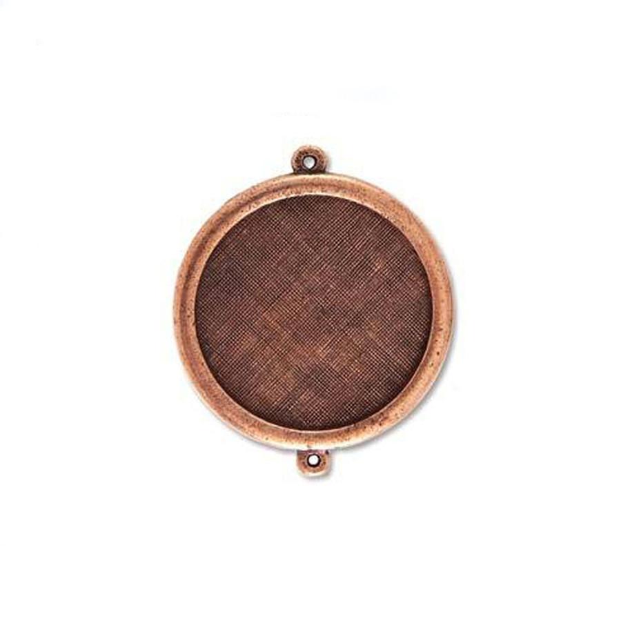 Circle Link Bezel - Antique Copper - 37mm