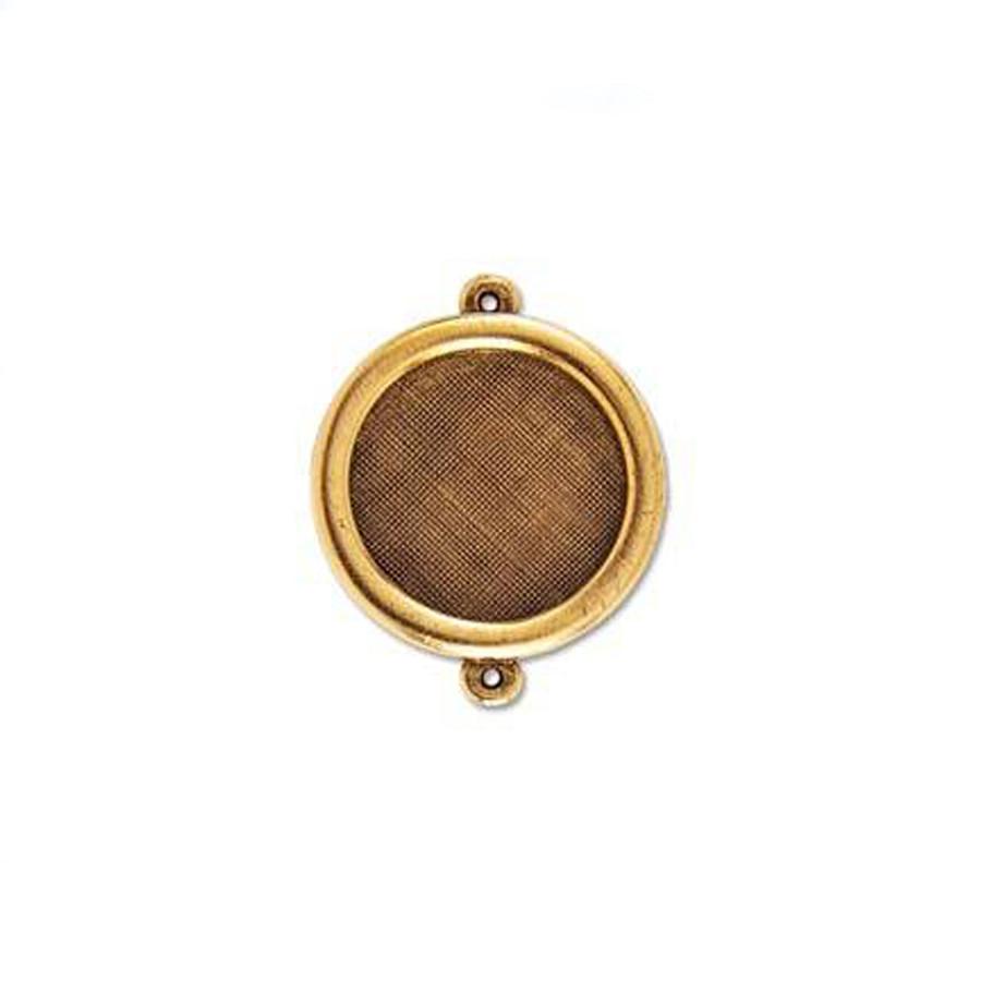 Circle Link Bezel - Antique Gold - 27mm
