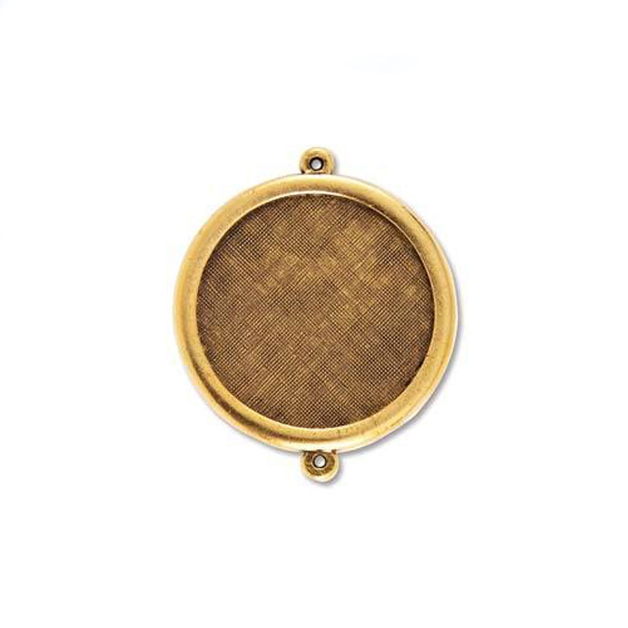 Circle Link Bezel - Antique Gold - 37mm