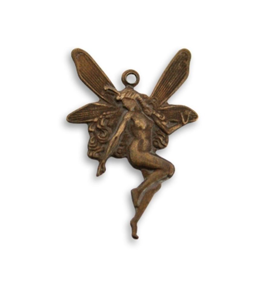 Whimsical Nouveau Fairy Charm -  25mm x 17mm