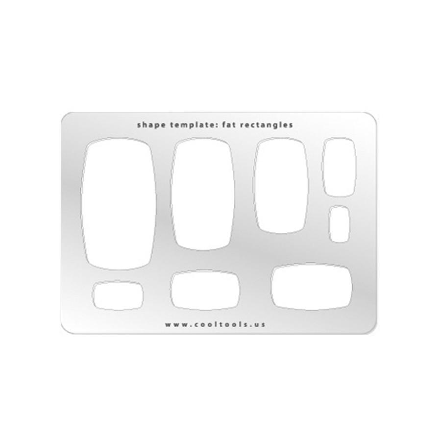 Jewellery shape template - Fat rectangle