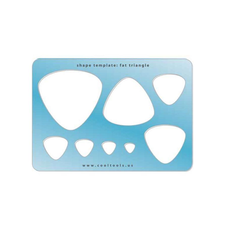 Jewellery shape template - Fat triangle