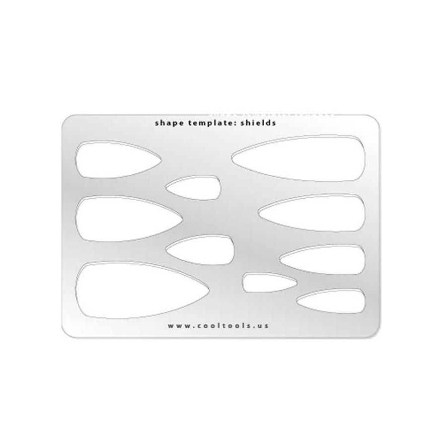 Jewellery shape template - Shields