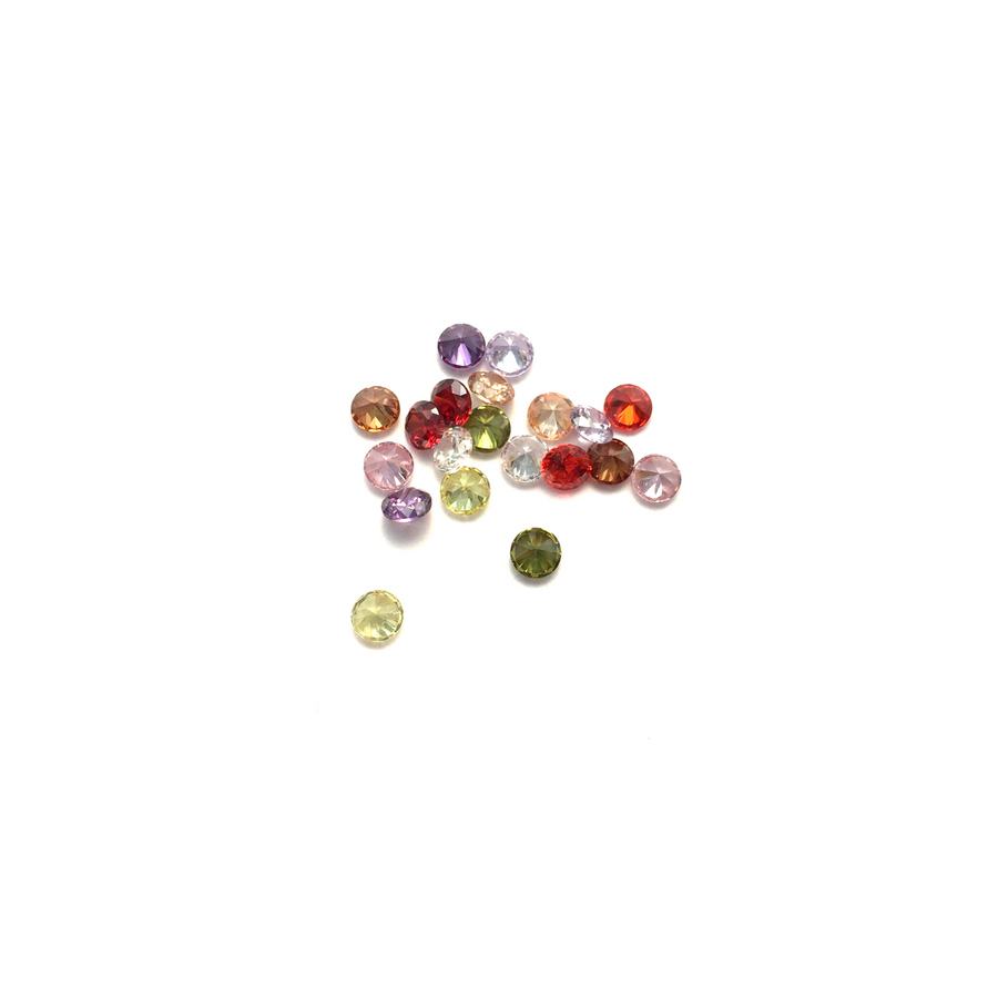 Lab Created Gempack - 4mm Mixed Colours (20 stones)