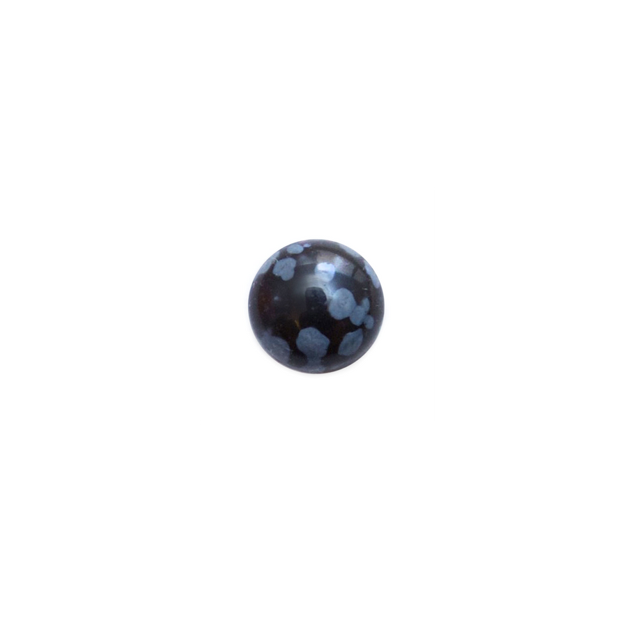 Round Cabochon - Snowflake Obsidian - 8mm
