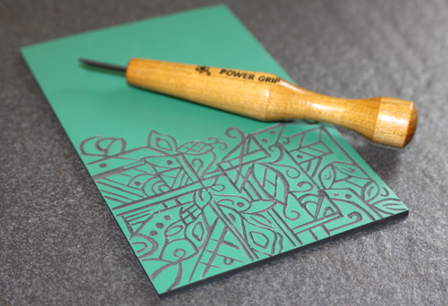 Mikisyo Power Grip V shaped Carving tool Works beautifully with our carving mat material, make your own texture plates!
