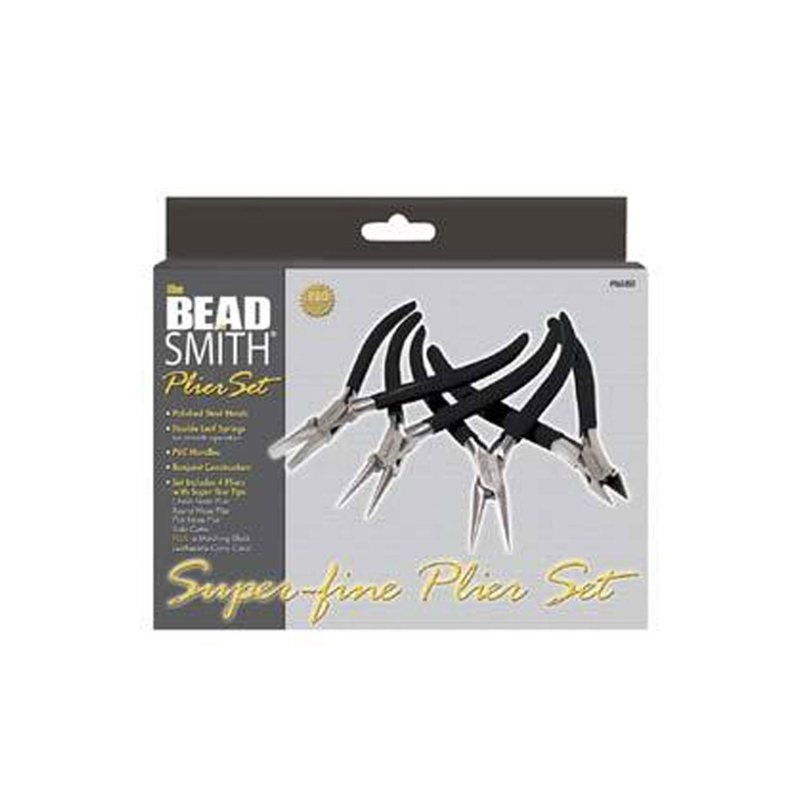 BeadSmith Pro Quality Super Fine Pliers Set and Case