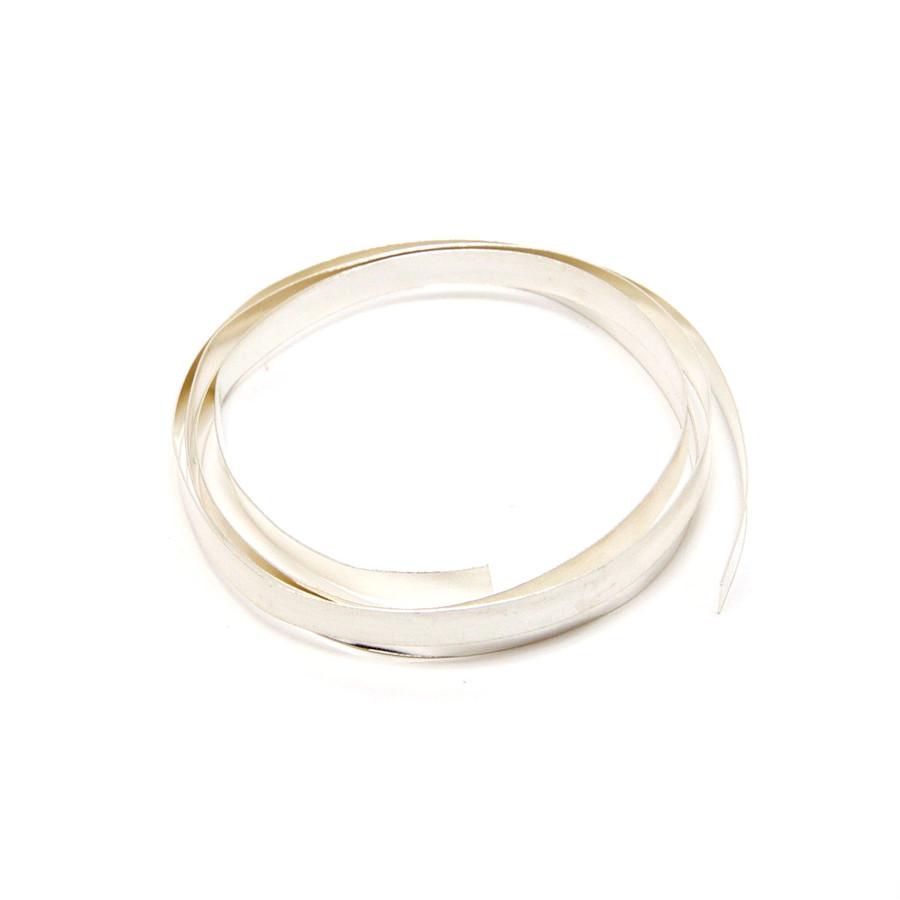 Fine Silver Flat Bezel Strip Wire - 4mm x 0.2mm x 50cm
