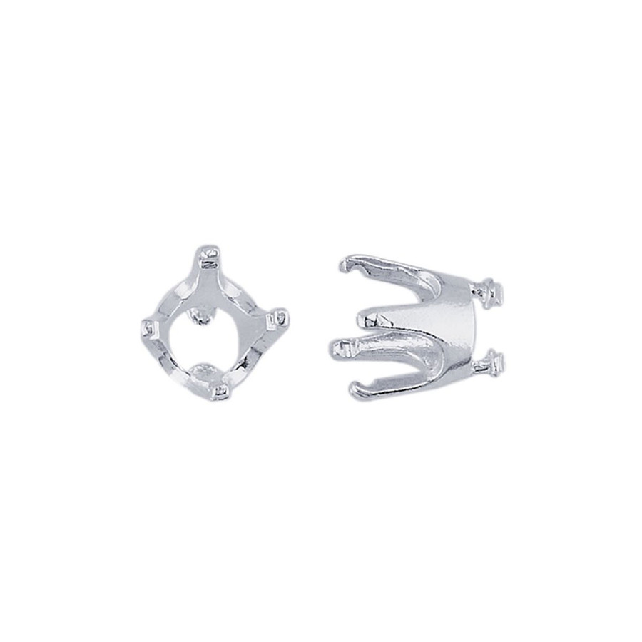 Embeddable Round Prong Setting - Silver - 6mm