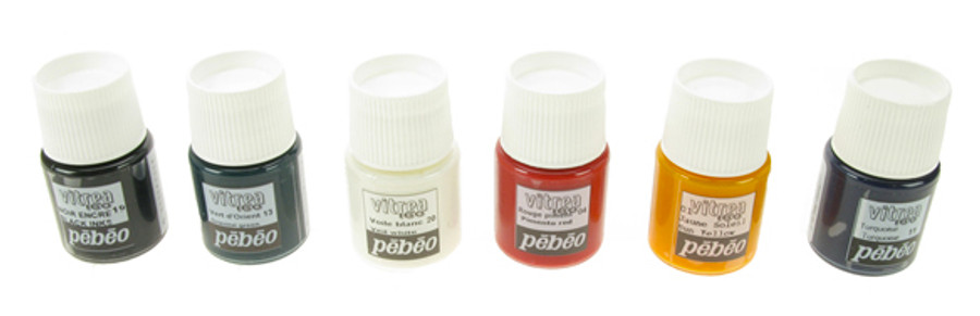Pebeo Vitrea 160 Discovery - Colour Set of 6 - 20ml