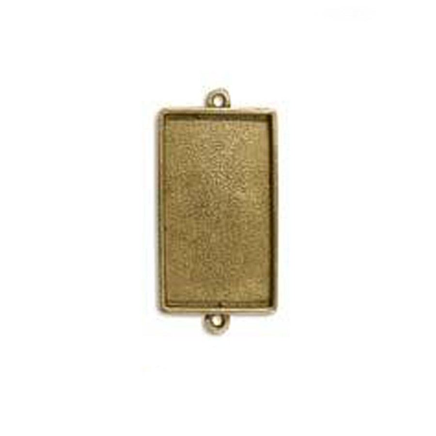 Rectangle Link Bezel - Antique Gold - 39 x 22mm