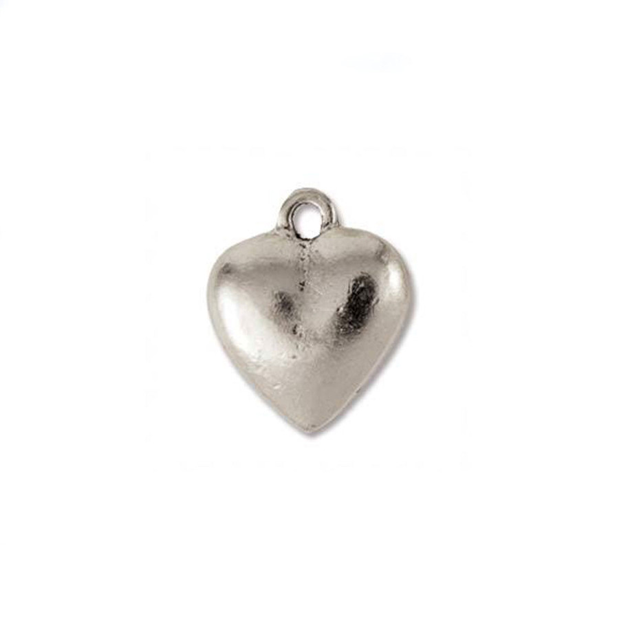 Heart Charm - Antique Silver - 12 x 12mm