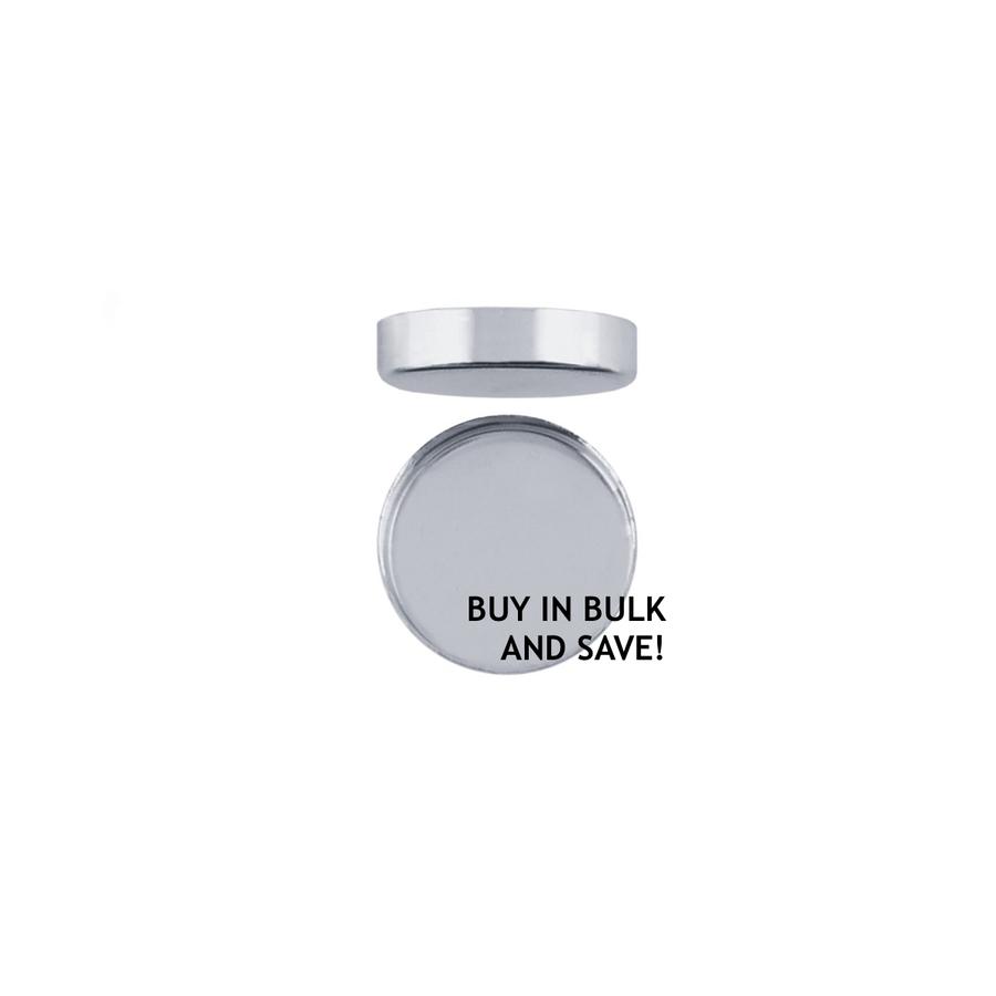Bezel Cup Plain Round - Fine Silver - 8mm
