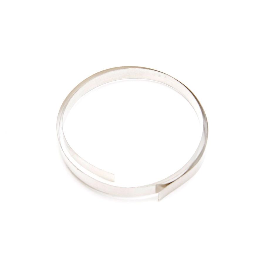 Fine Silver Flat Bezel Strip Wire - 6mm