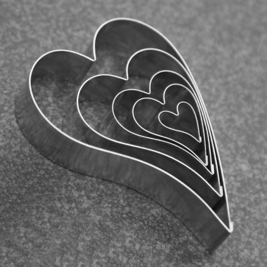 Cutters - Lazy Hearts - set of 5