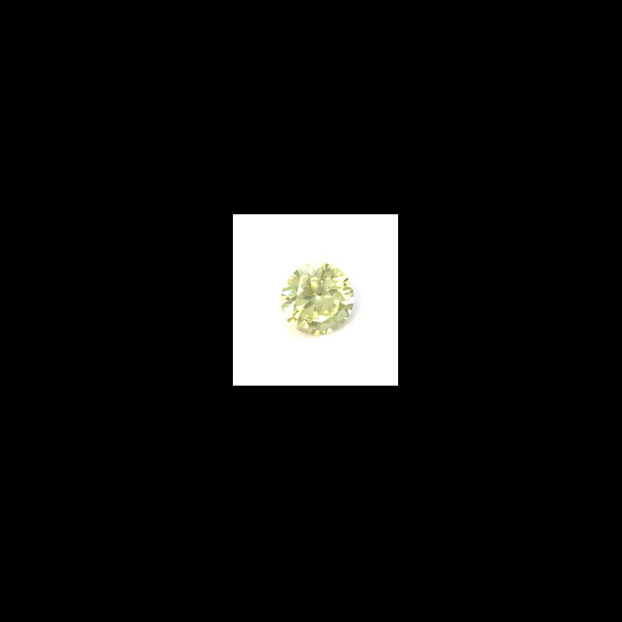 Lab Created Gemstone - Light Yellow Round