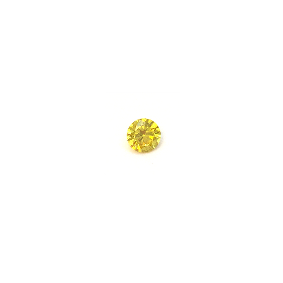 Lab Created Gemstone - Dark Yellow Round