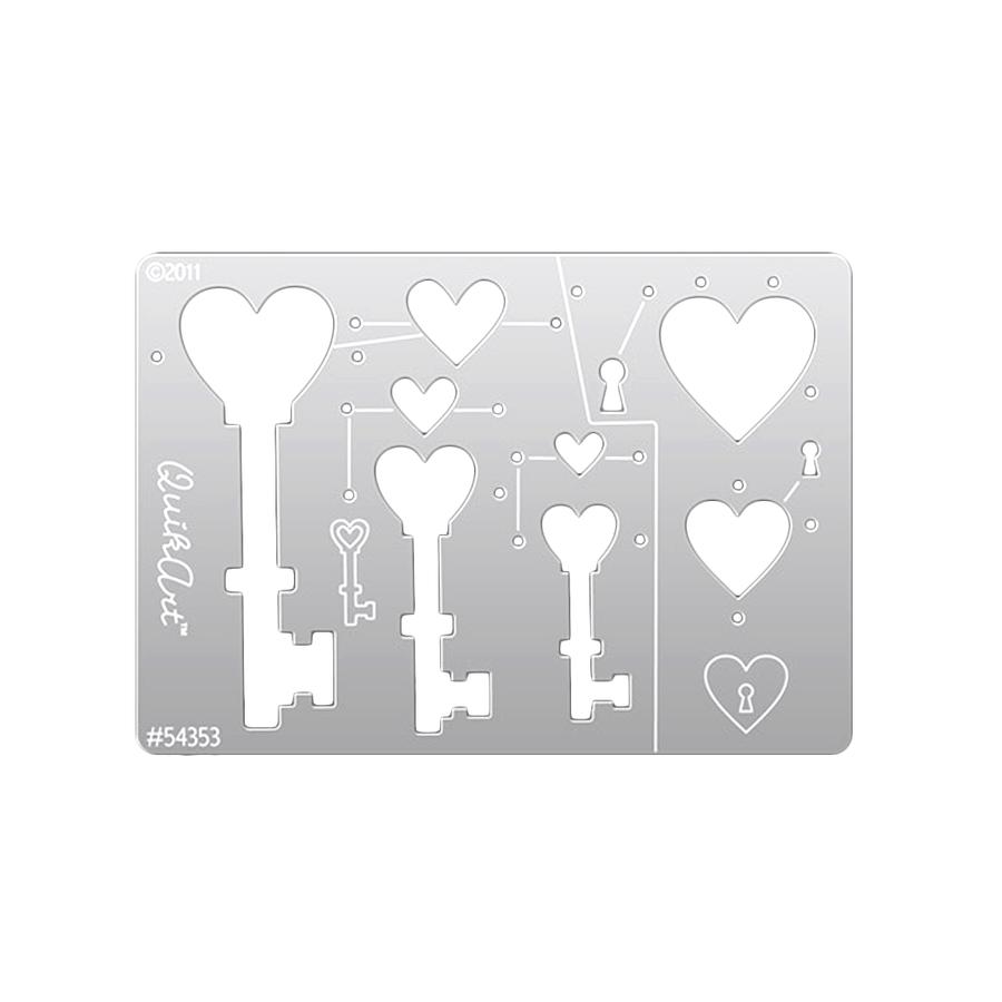 QuikArt 2-Step Shape Template - Keys
