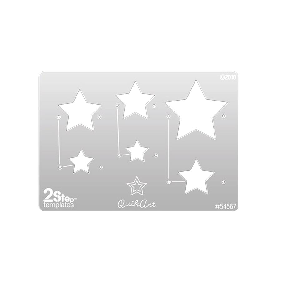 QuikArt 2-Step Shape Template - Stars