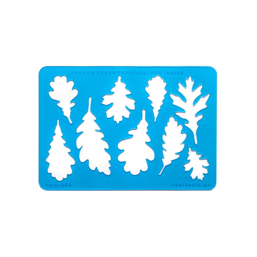 Jewellery shape template - Oak Leaves
