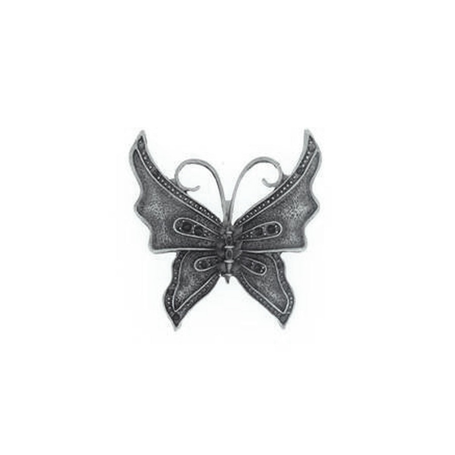 Butterfly Charm - Antique Silver - 43 x 40mm