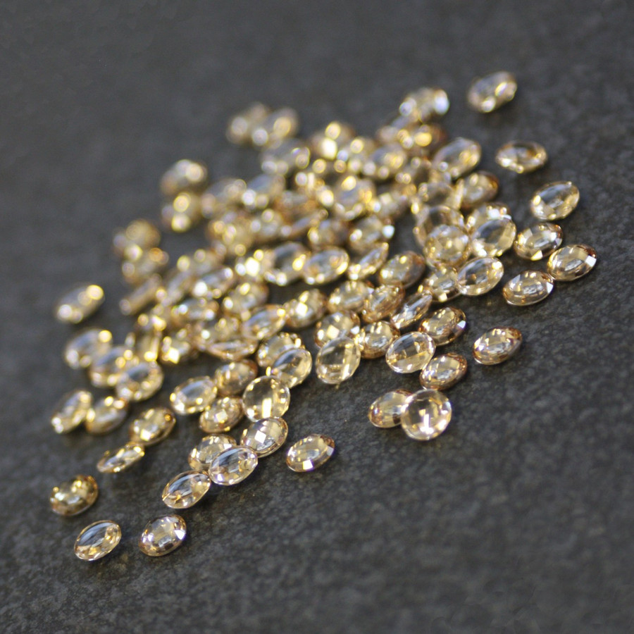 *Limited Stock* Lab Created Gemstone - Champagne Round 5mm