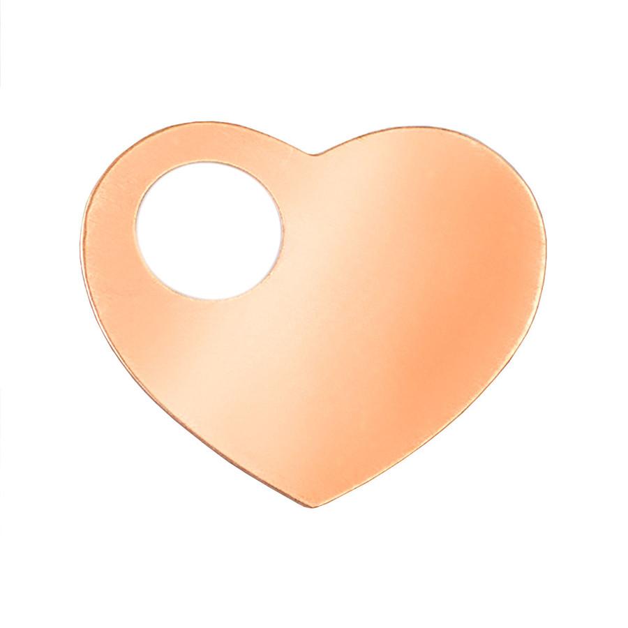 Copper Blank - Heart - 51 x 40mm