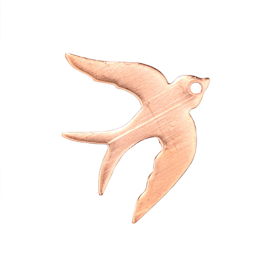 Copper Blank - Swallow - 30 x 27mm