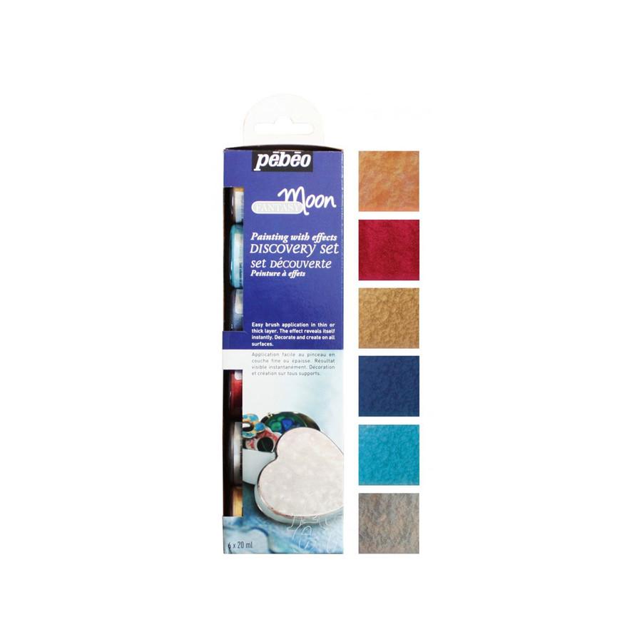 Pebeo Fantasy Paints - Moon - Colour Set of 6 - 20ml