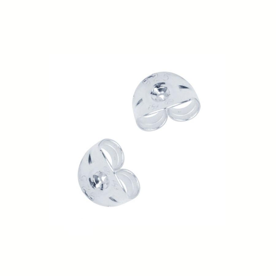 Sterling Silver Scrolls/Butterfly Backs - 1 Pair