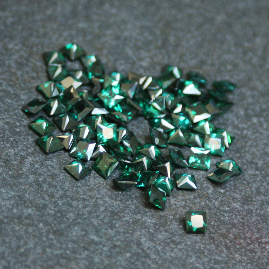 Lab Created Gemstone - Emerald Square 5x5mm (Non-fireable)