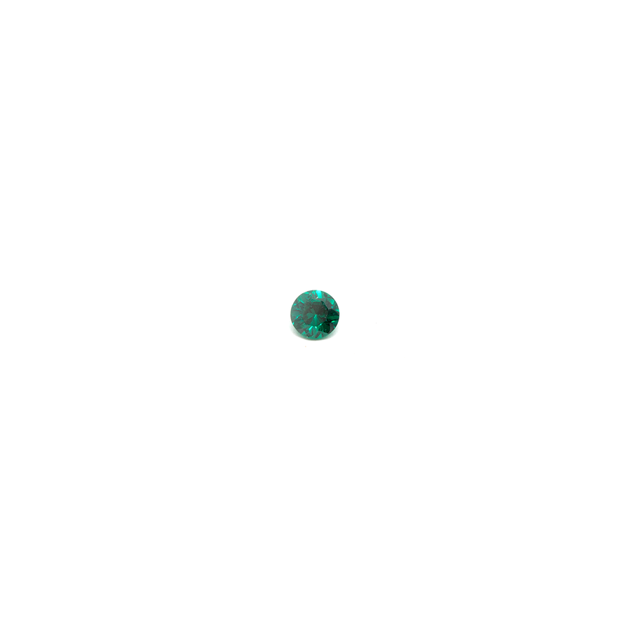 Lab Created Gemstone - Emerald Round 2mm (Non-fireable)