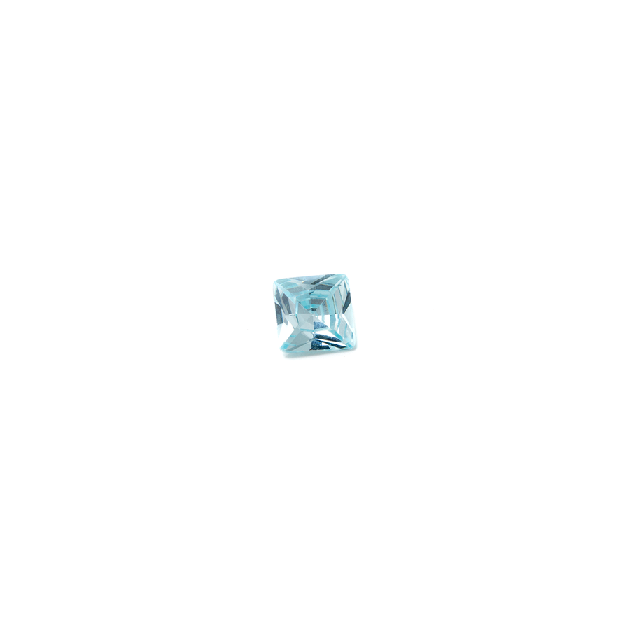 Lab Created Gemstone - Aquamarine Square 5x5mm (Non-fireable)