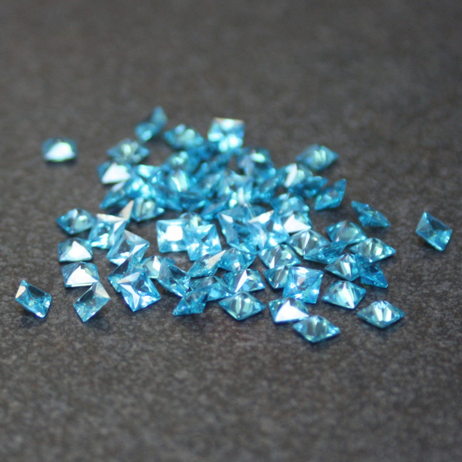 Lab Created Gemstone - Blue Topaz Square 5x5mm (Non-fireable)